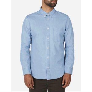 EVERLANE light wash denim button down shirt